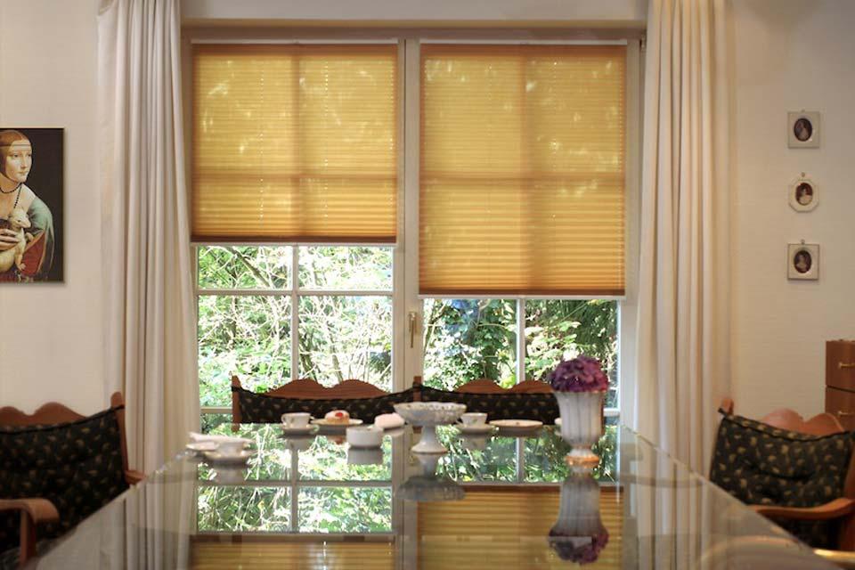 Unsere Rollläden, Rollos, Jalousien oder Plissees sind nicht nur funktional, sondern bieten auch Sichtschutz und sind dekorativ.
